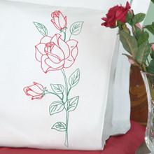 Long Stem Rose Perle Edge Pillowcases