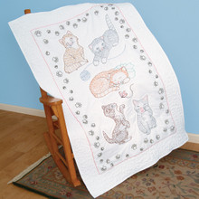 Kitty Cats Lap Quilt Top