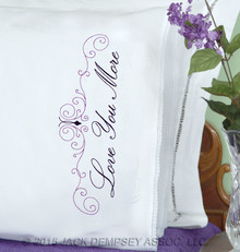 Love You/Love You More Lace Edge Pillowcases