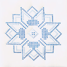 "Cross Stitch Stars 9"" Quilt Blocks"