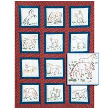 Horses Theme Quilt Blocks