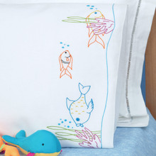 Fish at Play Children's Pillowcase