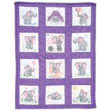 Elephants Nursery Quilt Blocks