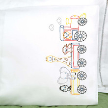 Jungle Train Children's Pillowcase