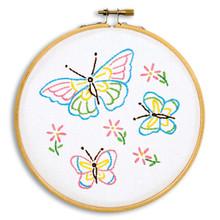 "Fluttering Butterflies 6"" Hoop Kit"