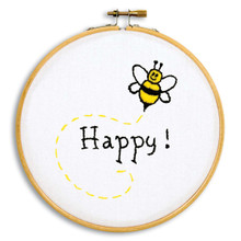 "Bee Happy 6"" Hoop Kit"
