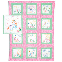 Baby Unicorns Theme Quilt Blocks