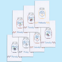 Mason Jar Days of the Week Hand Towels
