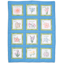 Flowers Theme Quilt Blocks