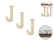 """3pk 2"""" Standing Letter J"""
