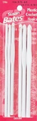 Susan Bates Luxite Plastic Crochet Hook Set Sizes F, G, H, I, J, K