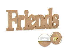 12in Word Standing Decor - Friends