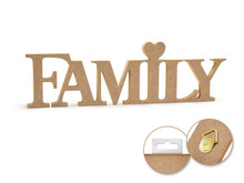 12in Word Standing Decor - Family
