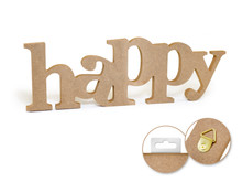 12in Word Standing Decor - Happy