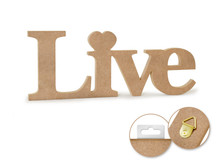 12in Word Standing Decor - Live