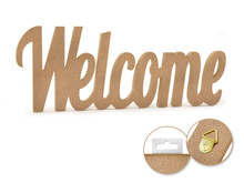 12in Word Standing Decor - Welcome