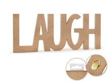 12in Word Standing Decor - Laugh