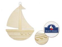3D Wood Shape - Sailboat