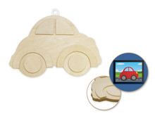 3D Wood Shape - Car