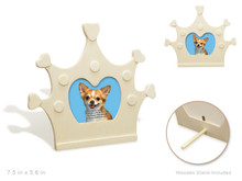Wood Photo Frame - Crown
