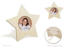Wood Photo Frame - Star