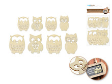8ct Laser-Cut Wood Shapes - Owls