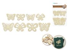 8ct Laser-Cut Wood Shapes - Butterflies