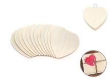 12ct Wood Shapes - Hearts