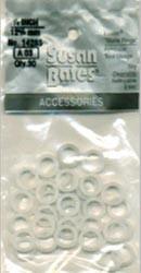"""Susan Bates Plastic Bone Rings 1/2"""""""