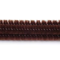 6mm x 12in Brown Chenille Stems 25ct