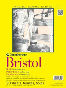 Strathmore Bristol Student Grade Pad 9x12 Smooth Surface