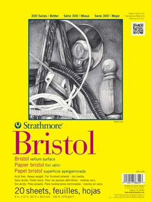 Strathmore Bristol Student Grade Pad 9x12 Vellum Surface