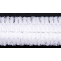 15mm x 12in White Bump Chenille Stems 12ct