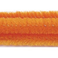 15mm x 12in Orange Bump Chenille Stems 12ct