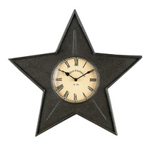 Black Star Metal Wall Clock