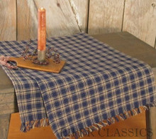 Sturbridge Navy Table Runner 13x36
