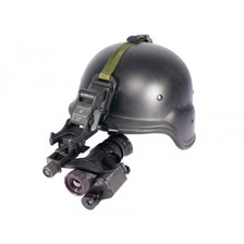 Morovision's Thermal Monocular helmet-mounted for quick access