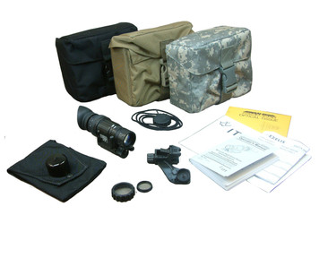 The NEPVS-14 Kit, shown with accessories and bag color choices