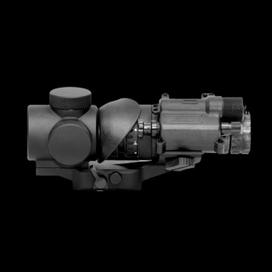 The NEPVS-14 with Clip On Night Vision Device Attached