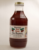 Homemade Red Raspberry Fruit Syrup | Das Jam Haus in Limestone, Tennessee