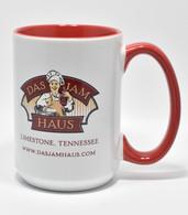 Red Das Jam Haus Coffee Mug