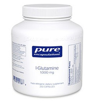 DESCRIPTION:  L-Glutamine nutritionally supports the mucosal lining and the healthy functioning of the gastrointestinal tract, as well as lean muscle mass.  L-Glutamine is the most abundant amino acid in the body.  In times of stress or increased metabolic demand, glutamine is an especially important source of energy for the GI tract. It also supports muscle health and immune system function.  In the gut, glutamine maintains healthy integrity of the intestinal tract and enhances the protective mucosal lining. This helps to ensure proper nutrient utilization and absorption while limiting the amount of toxins that pass through the intestinal barrier.  L-Glutamine provides potential support for muscle function and glycogen replenishment following exercise. In addition, its effects on immune function may support post exercise recovery and resistance.  L-Glutamine is derived from fermentation of vegetables. Vitamin C (ascorbyl palmitate) is derived from corn dextrose fermentation and palm oil.  SUGGESTED USAGE:  Adults:  1-6 teaspoons per day, in divided doses, between meals, or as directed by our CNC staff physician.  Children:  One-half the adult dose, or as directed by our CNC staff physician.  INGREDIENTS:  Each scoop contains:  L-glutamine (free-form) 3 g