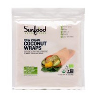 An image of the front of the bag of Organic Coconut Wraps from Clinical Nutrition Centers.