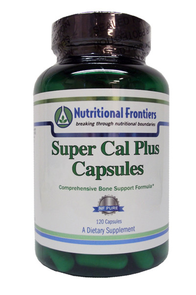 Advanced bone support formula to help maintain bone strength, function and health*  SUPER CAL PLUS is a synergistic formula that contains 6 well-researched nutrients to:  - Support the organic and inorganic matrix of bone - Support hormone balance - Provide bioavailable minerals for bone health - Support bone density
