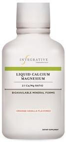 Liquid Calcium Magnesium 2:1 Ratio Orange-Vanilla Flavor by Integrative Therapeutics 16 oz ( 480 ml )
