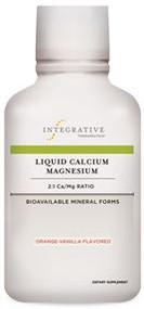 Liquid Calcium Magnesium 2:1 Ratio Orange-Vanilla Flavor by Integrative Therapeutics 16 oz ( 480 ml )