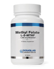 Methyl Folate L-5-MTHF 1,000 mcg Metafolin by Douglas Laboratories 60 Tablets