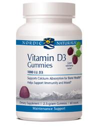 Vitamin D3 Gummies by Nordic Naturals 60 gummies