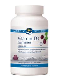 Vitamin D3 Gummies by Nordic Naturals 120 gummies