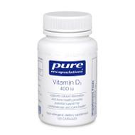 Vitamin D3 400 iu - 120 capsules by Pure Encapsulations